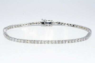 $8,000 2.76CT NATURAL ROUND CUT DIAMOND ELEGANT TENNIS BRACELET 14K WHITE GOLD, used for sale  Shipping to South Africa