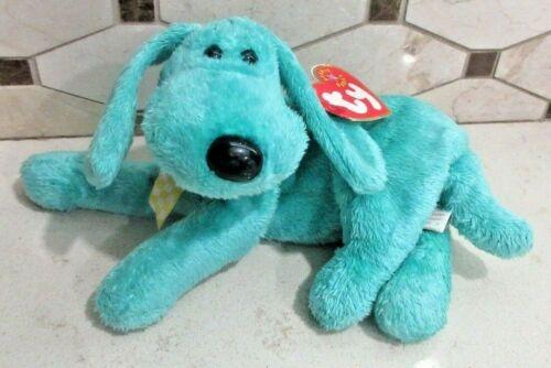 Ty Beanie BabyDiddy the Green Dog DOB July 25, 2000  MWMT