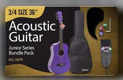 3/4 Size 36 Inch Acoustic Guitar Bundle Junior/Travel Series by Hola! Music with