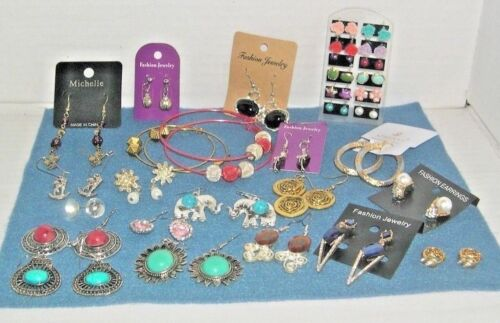 32 Pair of Pierced Fashion Costume Earrings