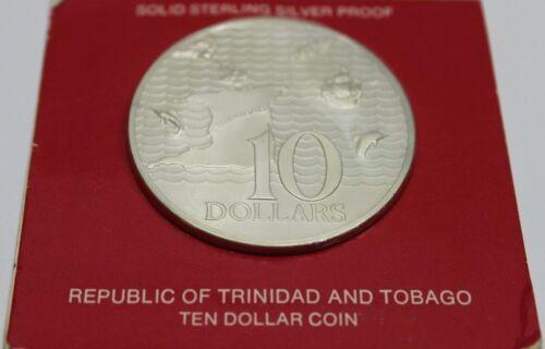 1977 Republic of Trinidad and Tobago $10 Silver Proof Coin