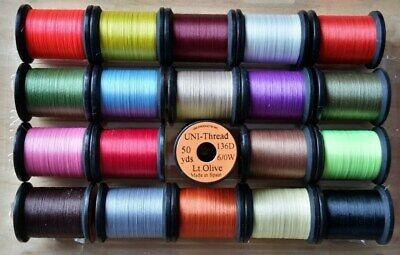 Uni Glo Yarn Glow in the dark TWO SPOOLS 2 x Fly Tying Yarn