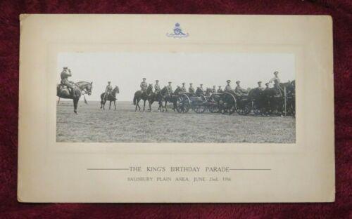 Royal Artillery: Real Photo 1936 : KING