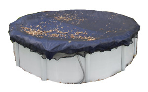 18ft Round Winter Pool Cover and Leaf Net
