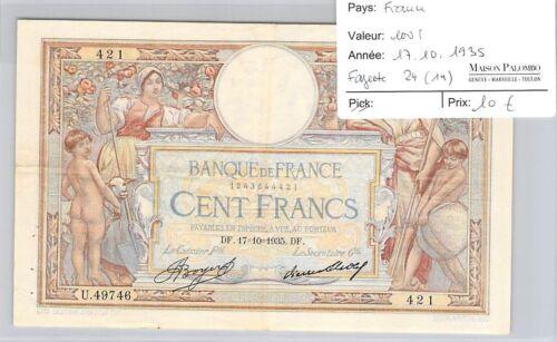 Ticket France - 100 Francs 17.10.1935