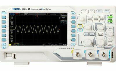 Rigol Ds1202z-e Digital Oscilloscope 2 Channels 200 Mhz 1 Gsas 24 Mb 7 Lcd Lan