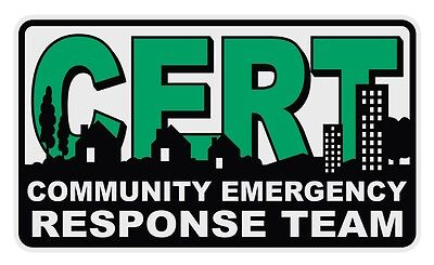 CERT Community Emergency Response Team Reflective Decal Sticker
