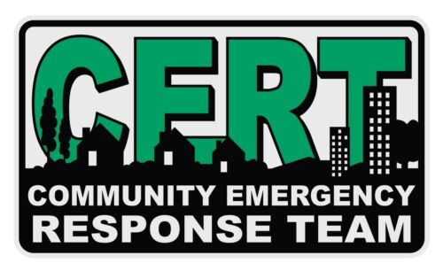 CERT Community Emergency Response Team Reflective Decal Sticker