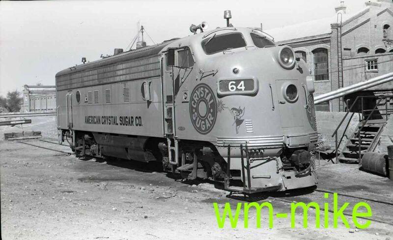 #B-075 American Crystal Sugar F7 64 at Rocky Ford CO 1970 ORIGINAL B&W Negative
