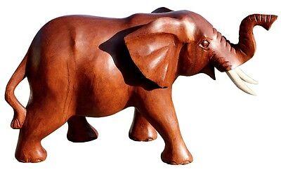 Schöner Holz Elefant Statue Deko Afrika Dekoration Handarbeit Bali Elefant 32