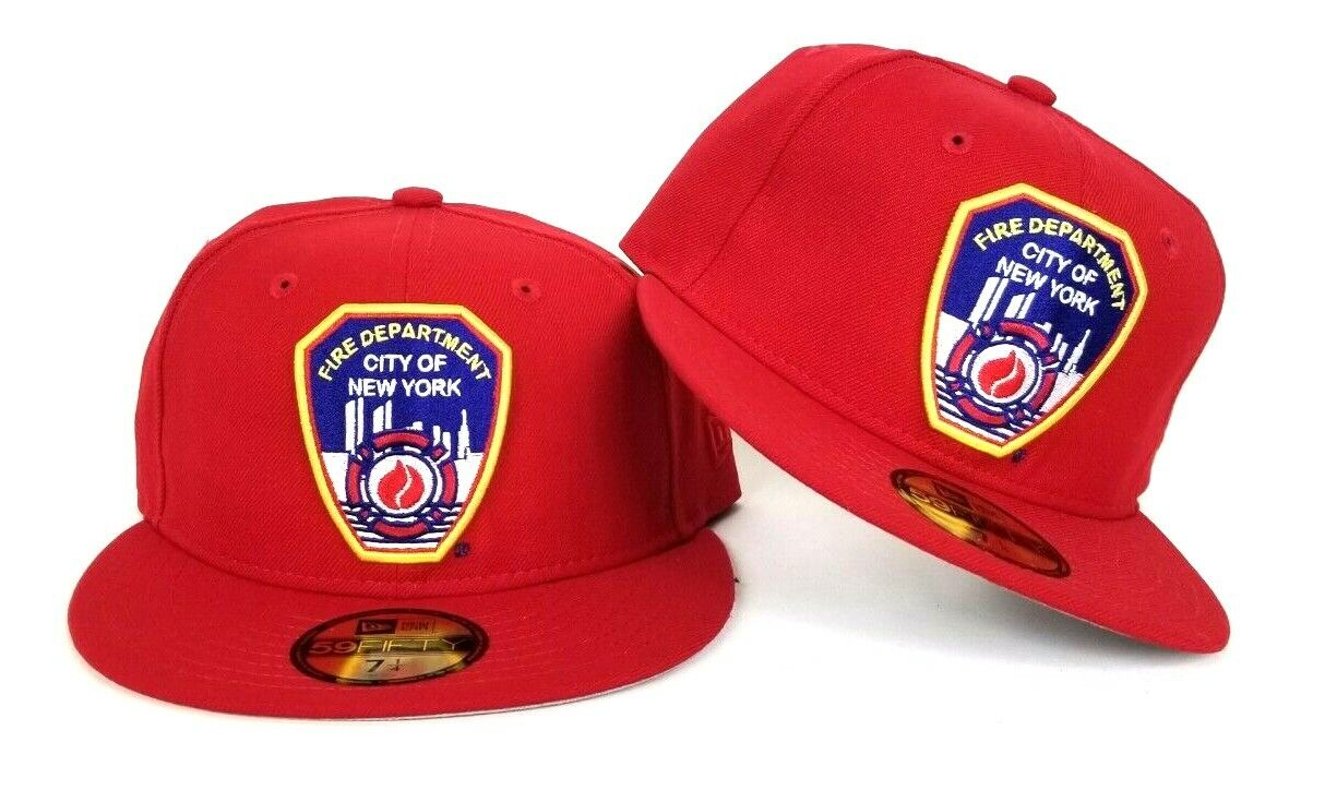 New Era Red City Of New York Fire Department Fdny Fitted Hat Cap Ebay