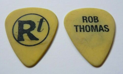 ROB THOMAS MATCHBOX 20 VINTAGE BLACK ON YELLOW TOUR ISSUED GUITAR PICK