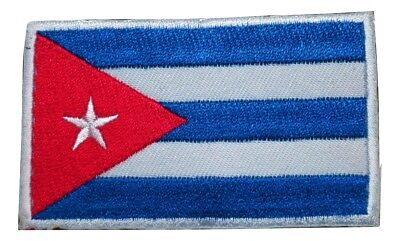 Cuba Cuban National Country Flag Embroidered Hook and Loop Patch