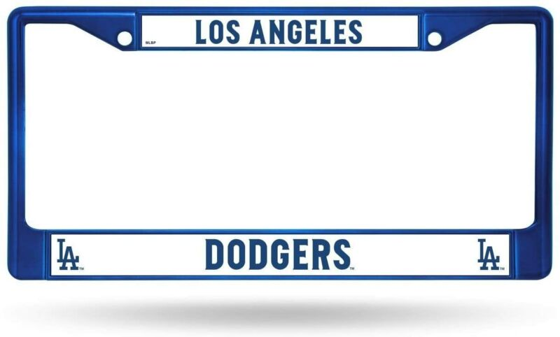 Los Angeles LA Dodgers MLB Baseball Blue Chrome Auto Car License Plate Frame