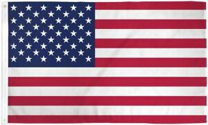 BIG US Flag 5x8 ft Polyester with Metal Grommets USA American America Stars