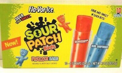 Sour Patch Kids Fla-Vor-Ice 10-Pops Freeze & Eat NEW