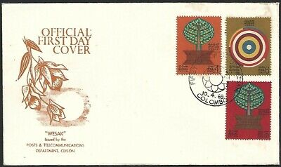 Ceylon 1969 Wesak Official First Day Cover