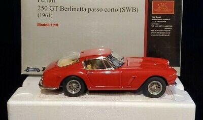 1/18 CMC 1961 Ferrari 250 GT SWB Berlinetta 1/18 Diecast Model Car Red Rossa