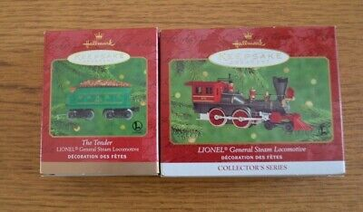 2000 Two-Piece Set Hallmark Keepsake Lionel Train The General Steam Eng & Tender