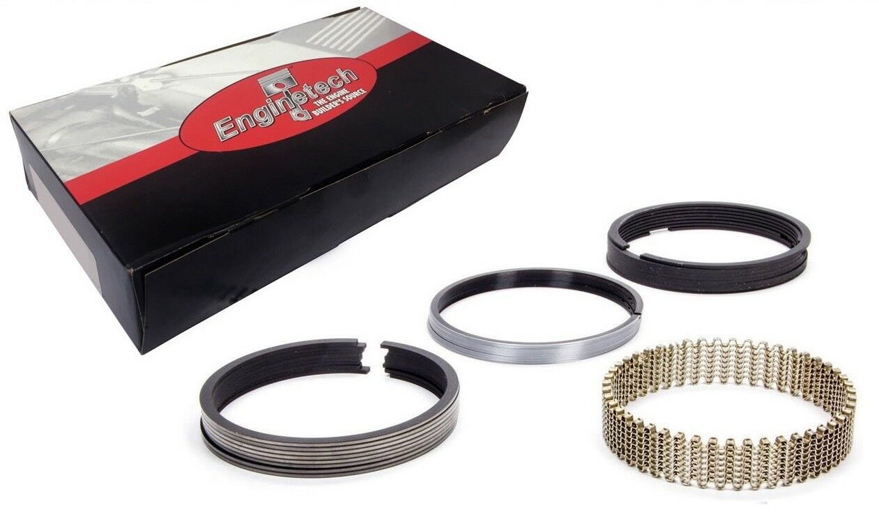 """Enginetech Cast Piston Rings Chevy Ford 302 327 350 351W 4/"""" Bore Standard"""