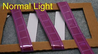 Purple Gloss Sew On Reflective Tape Pvc 3x1
