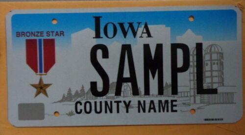 Iowa Sample License Plate Bronze Star