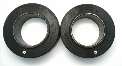 """MONARCH SOLID FORKLIFT TIRES 14"""" X 4.5"""" X 8"""" PRESS ON (QTY OF 2)"""