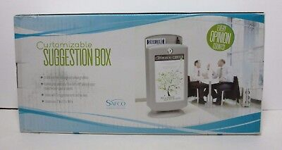 Safco Customizable Suggestion Box - 4233 Gr New