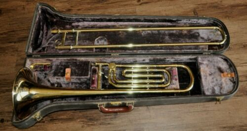 Vtg Olds Ambassador Trombone *F Attachment *Early 60s w/Orig Case #1 Mouthpiece
