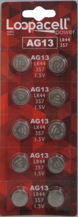 LR44 BATTERY (10 piece) LR44 357 A76 L1154 AG13 357 Alkaline Loopacell Battery