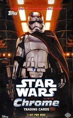2016 Topps Star Wars The Force Awakens Chrome Factory Sealed Hobby Box