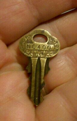 Vintage Original Chicago Lock Co Vending Gumball Peanut Machine NC400 Brass Key