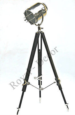 vintage floor lamp stand spotlight focus light shade marine ship head lamp Decor