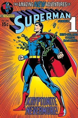 Superman Issue 233 Large Poster. Classic DC Comics Book Kryptonite Man of Steel