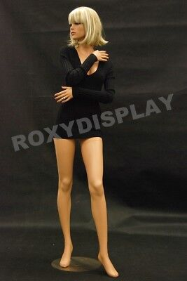 Female Fiberglass Mannequin Pretty Face Elegant Pose Dress From Display Md-fr9