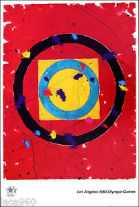 Sam Francis  1984 Los Angeles Summer Olympics Poster