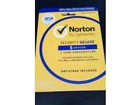 Symantec Norton Security Deluxe 1 Year Subscription