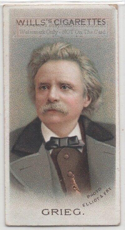 Edvard Grieg Norwegian Composer Pianist Music 100+ Y/O Trade Ad Card