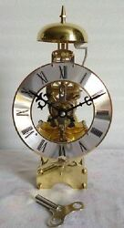 31 days Mechanical Manual Windup Skeleton Table Clock