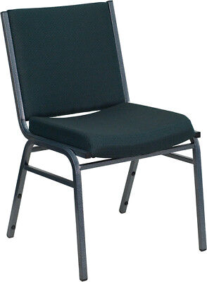 Heavy Duty Green Fabric Stack Office Guest Chair