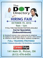 HIRING FAIR - Full-time / Year round positions - Picton, ON