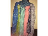 Bundle of 7 scarves!