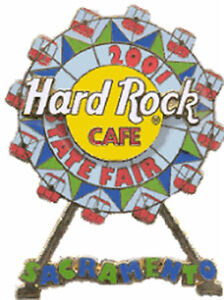 Hard-Rock-Cafe-SACRAMENTO-2001-STATE-FAIR-Ferris-Wheel-Rotate-PIN