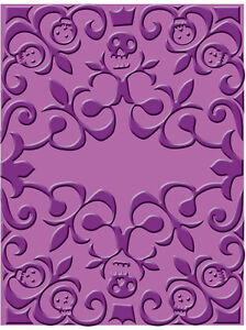 Cuttlebug Skeleton Scroll A2 Embossing Folder - $6