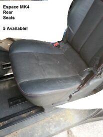 ESPACE MK4 REAR SEATS- 5 FOR SALE