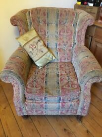 Lovely winged back chair