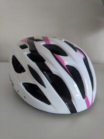 Ladies Bicycle Helmet - Ridge White and Pink