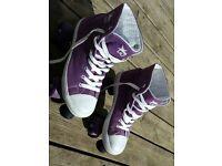 Roller Skates Canvas Hi Top Purple size 4