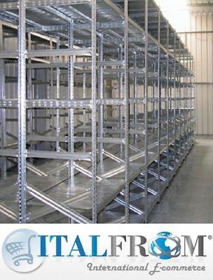 Scaffalatura Industriale Scaffale a Incastro Scaffali L 307cm p60 h 250 5 livell