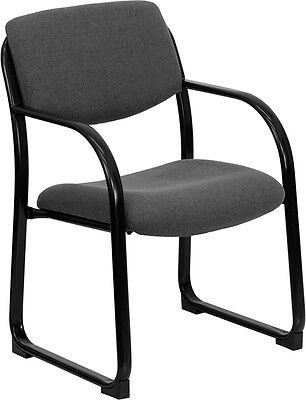 Lot Of 10 Gray Fabric Office Guest Side Chairs